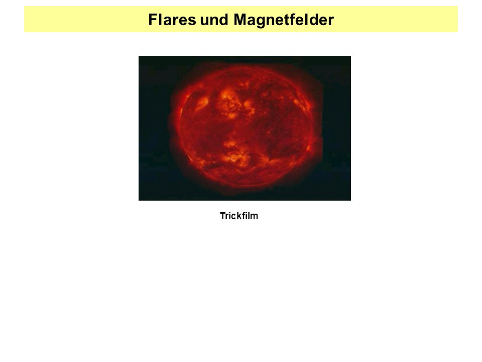 Flares und Magnetfelder