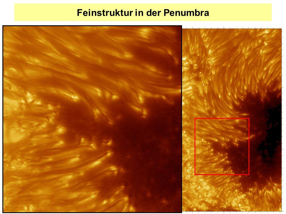 Feinstruktur in der Penumbra