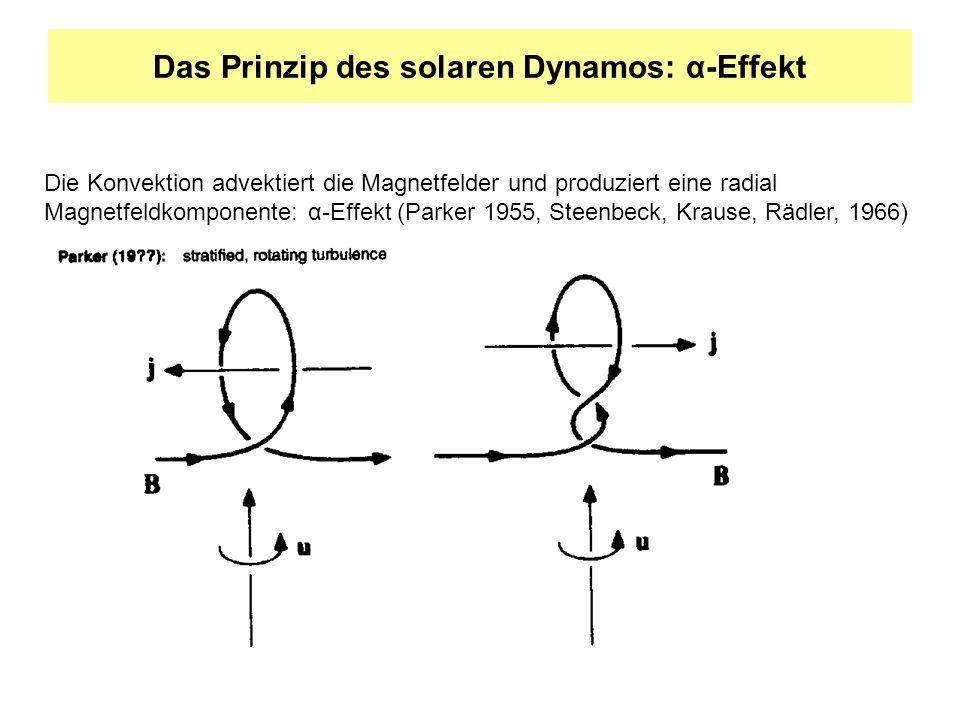 Das Prinzip des solaren Dynamos: α-Effekt
