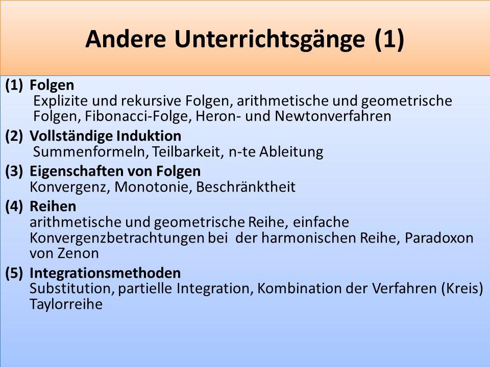 Andere Unterrichtsgänge (1)