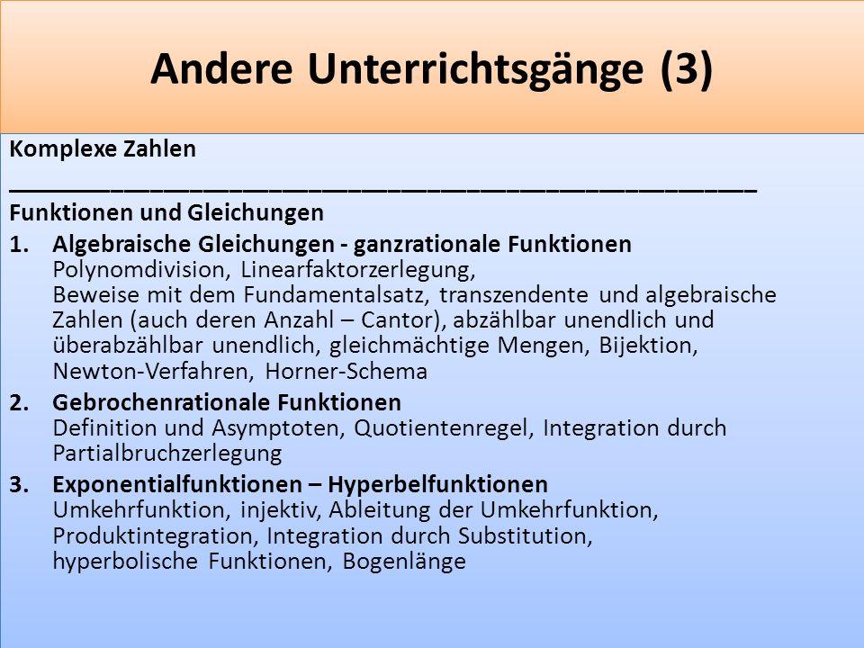 Andere Unterrichtsgänge (3)
