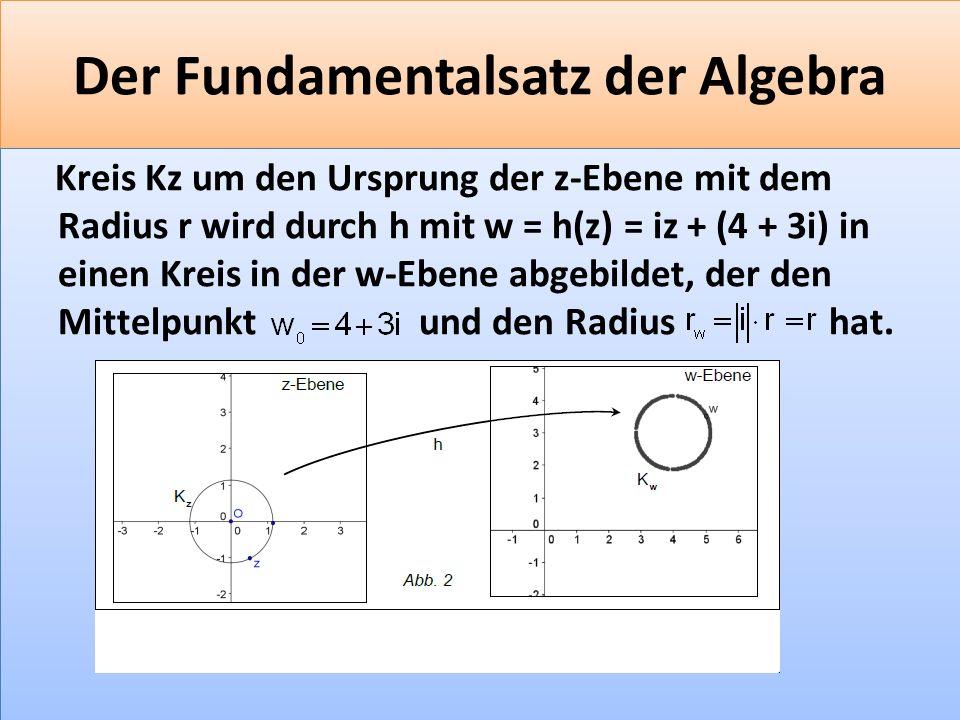 Der Fundamentalsatz der Algebra