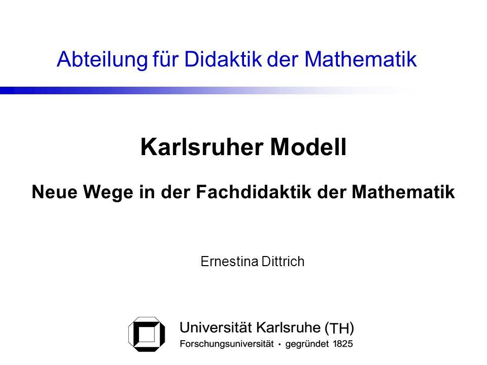 Neue Wege in der Fachdidaktik der Mathematik