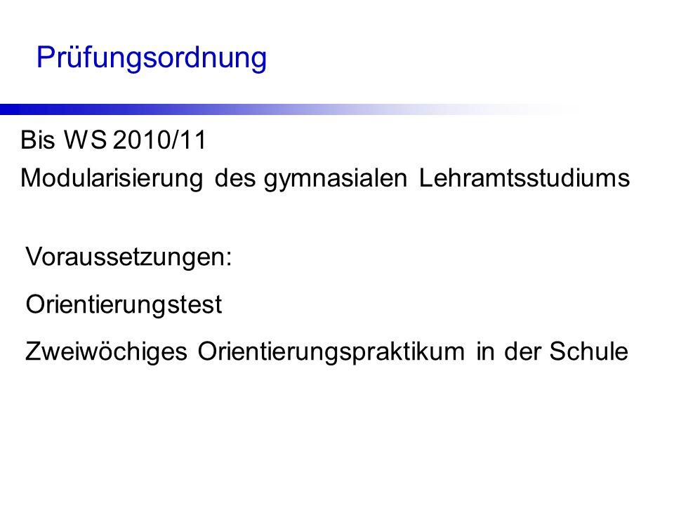 Prüfungsordnung Bis WS 2010/11