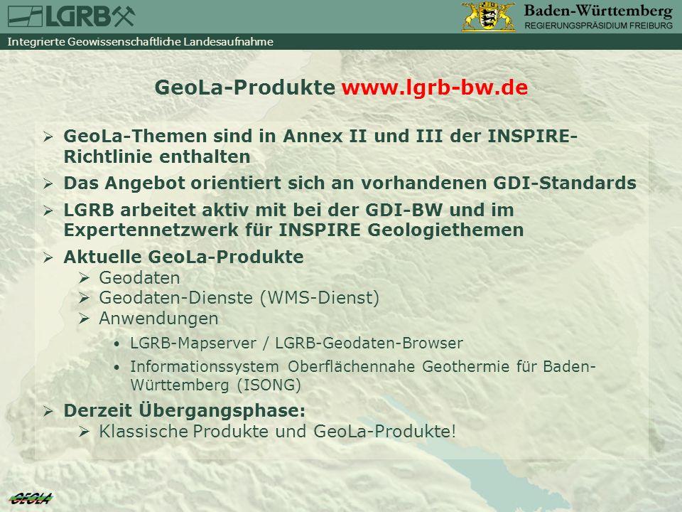 GeoLa-Produkte www.lgrb-bw.de