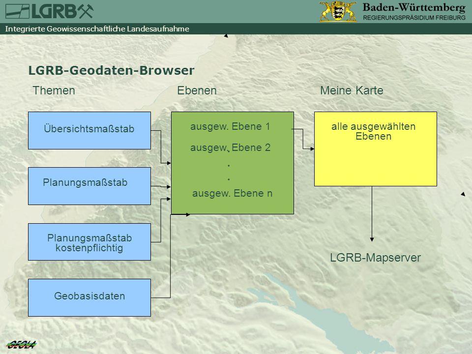 . LGRB-Geodaten-Browser Themen Ebenen Meine Karte LGRB-Mapserver