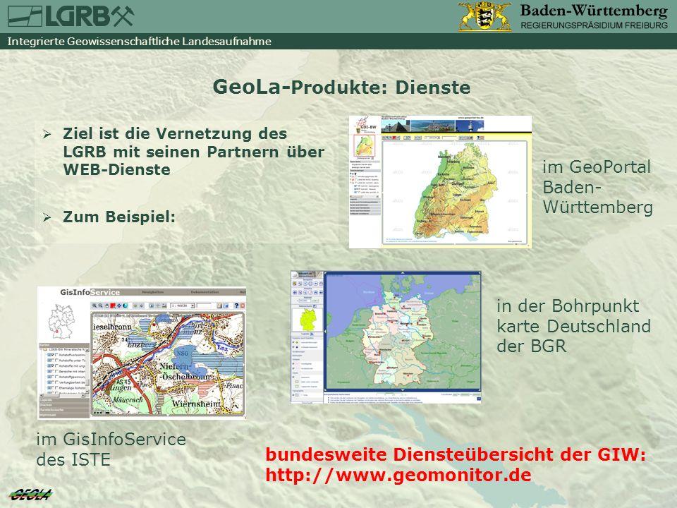 GeoLa-Produkte: Dienste