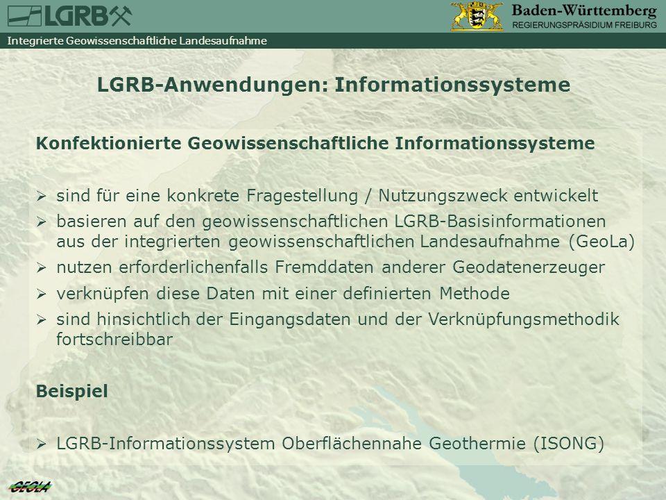 LGRB-Anwendungen: Informationssysteme