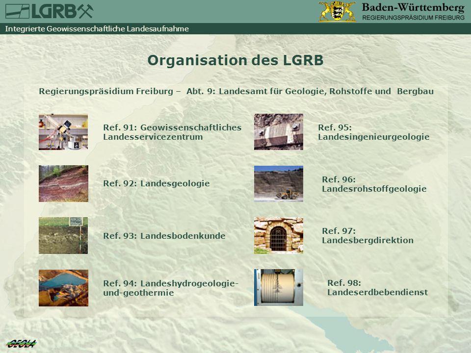 Organisation des LGRB Regierungspräsidium Freiburg – Abt. 9: Landesamt für Geologie, Rohstoffe und Bergbau.