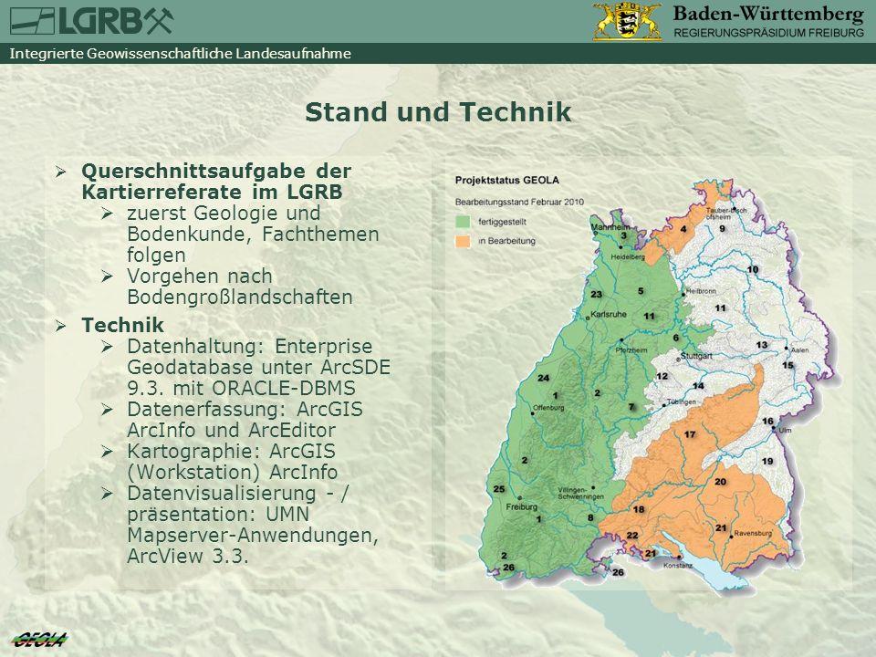 Stand und Technik Querschnittsaufgabe der Kartierreferate im LGRB