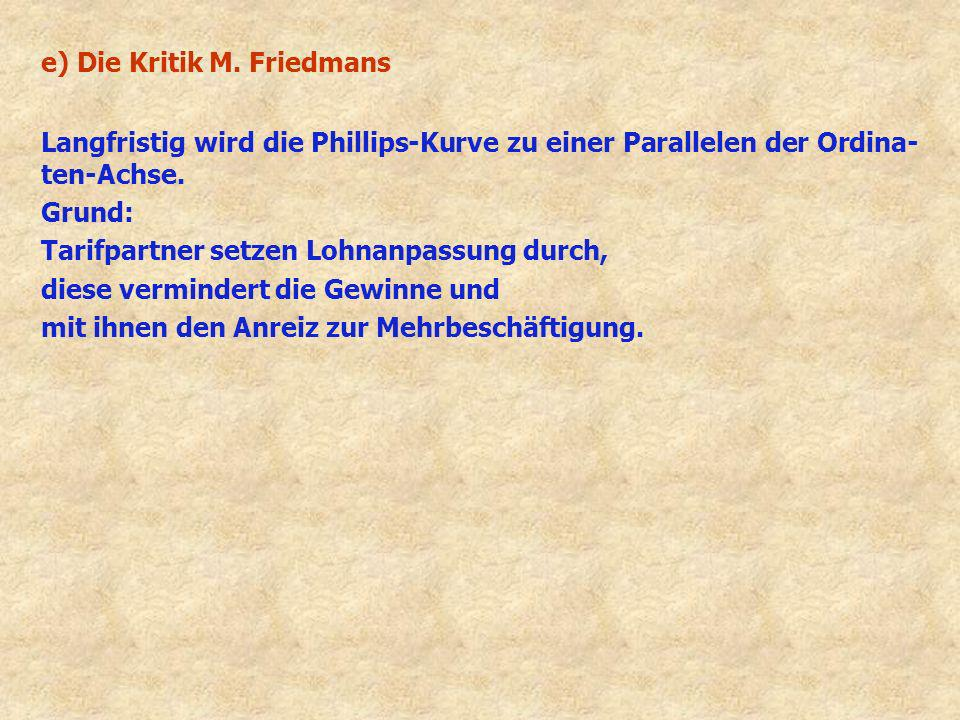 e) Die Kritik M. Friedmans