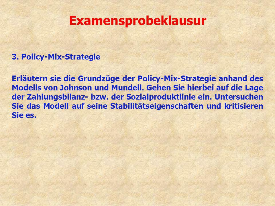 Examensprobeklausur 3. Policy-Mix-Strategie