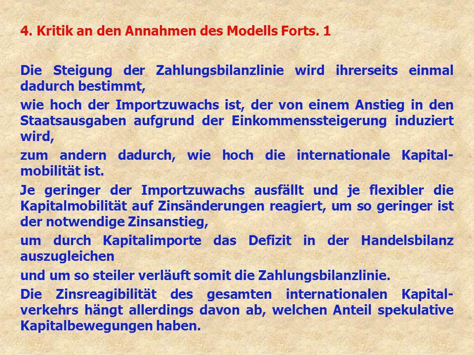 4. Kritik an den Annahmen des Modells Forts. 1