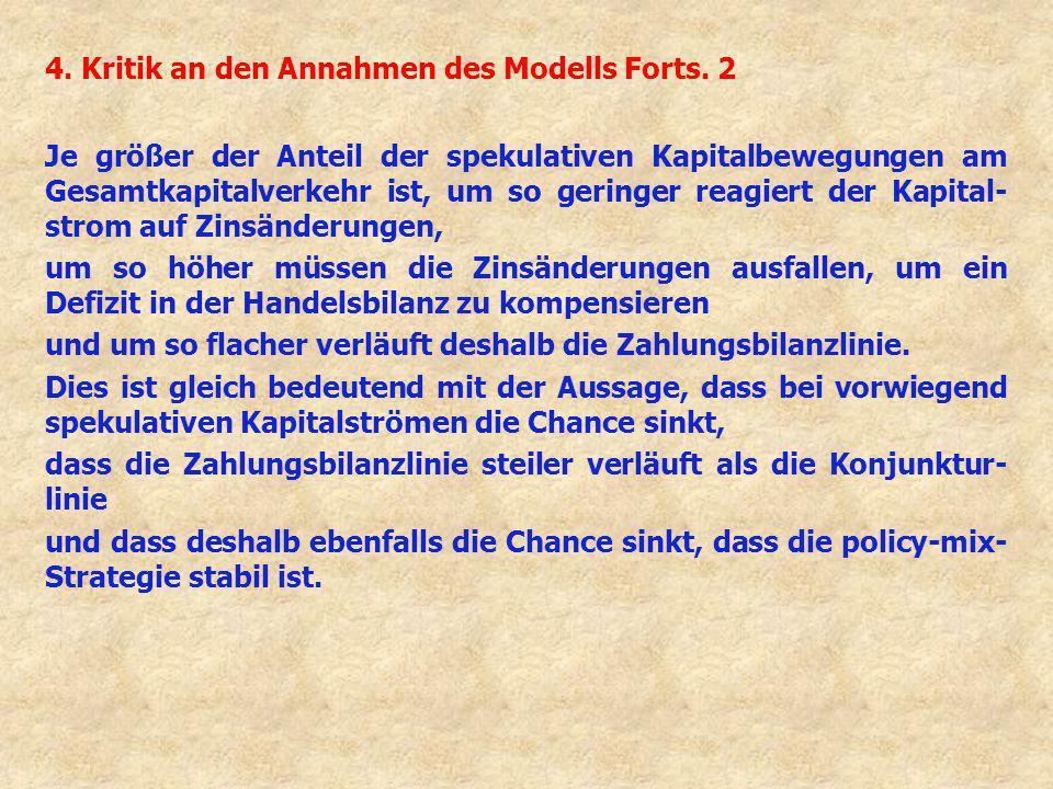 4. Kritik an den Annahmen des Modells Forts. 2