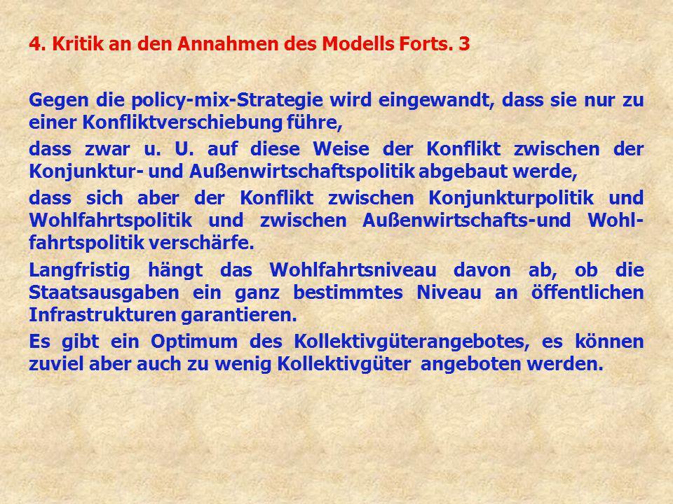 4. Kritik an den Annahmen des Modells Forts. 3