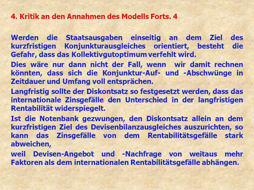 4. Kritik an den Annahmen des Modells Forts. 4