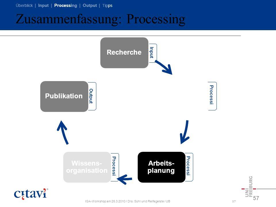 Zusammenfassung: Processing