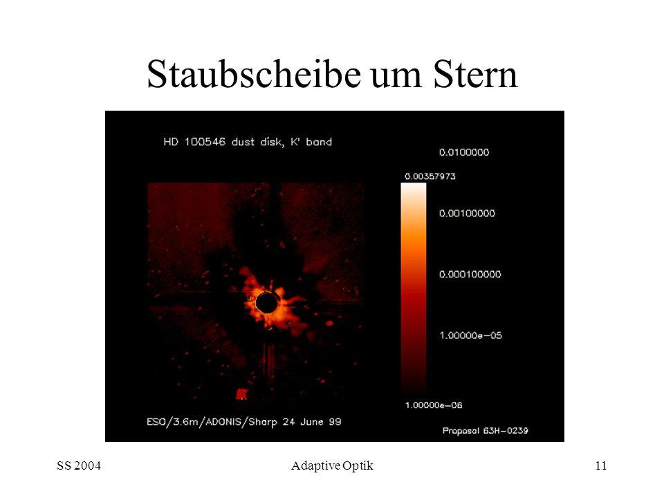 Staubscheibe um Stern SS 2004 Adaptive Optik