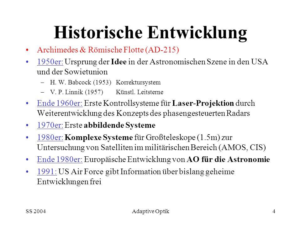 Historische Entwicklung
