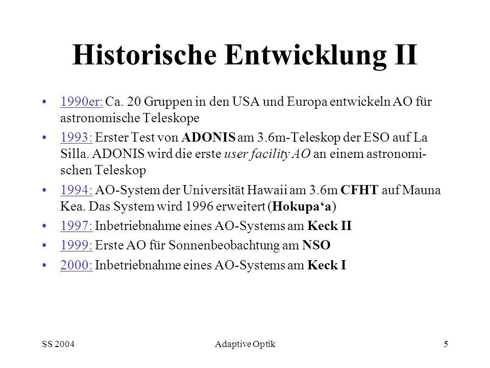 Historische Entwicklung II