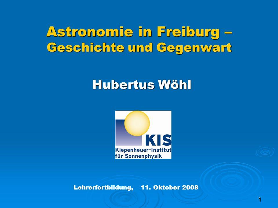 Astronomie in Freiburg – Geschichte und Gegenwart
