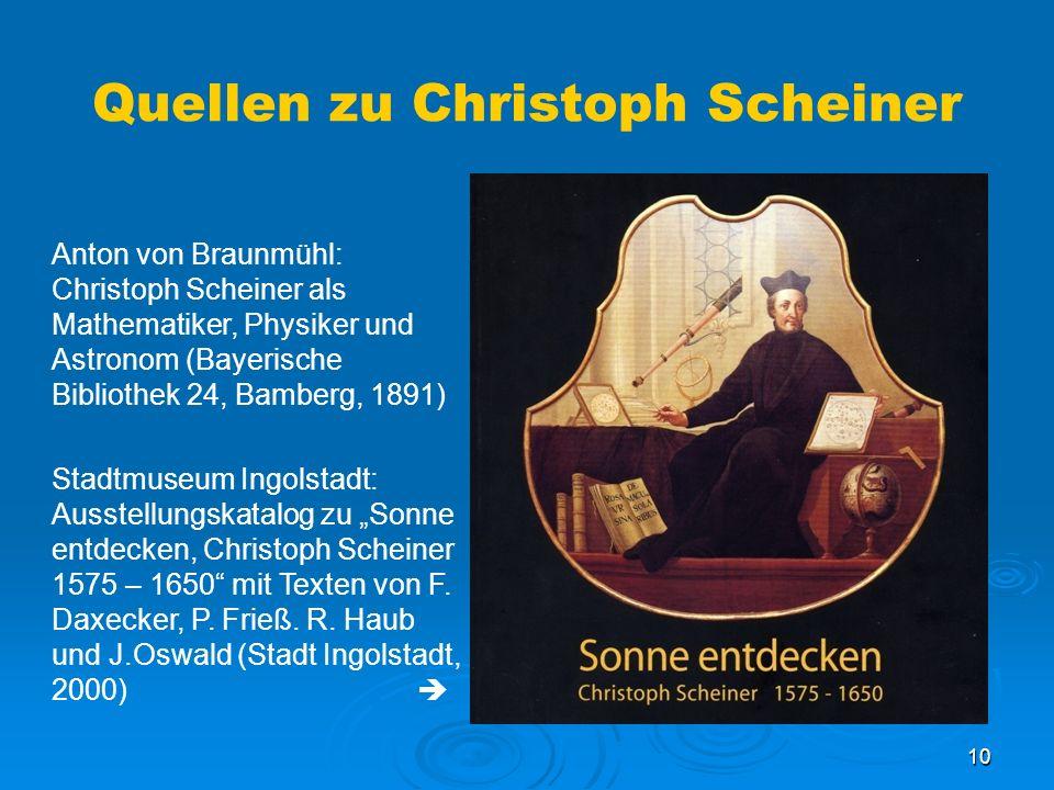 Quellen zu Christoph Scheiner