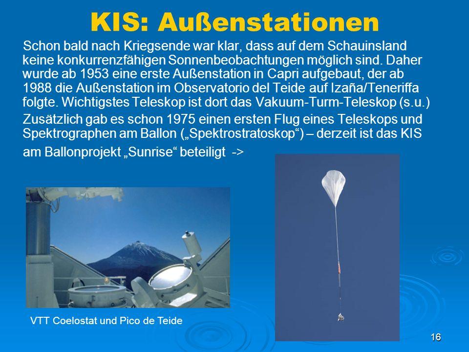 KIS: Außenstationen