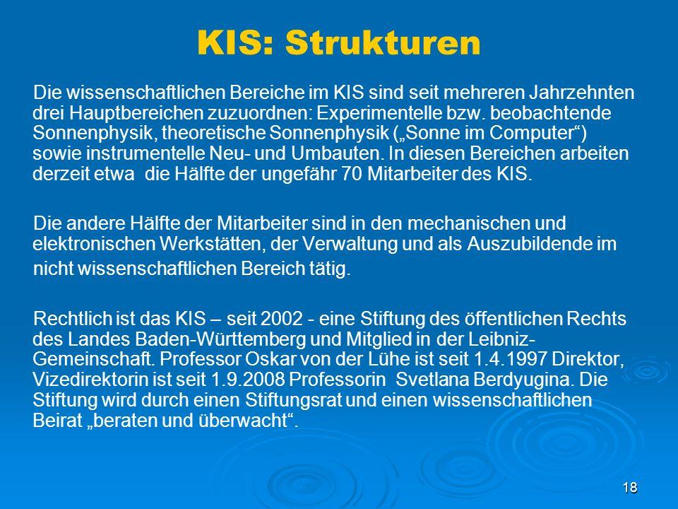 KIS: Strukturen
