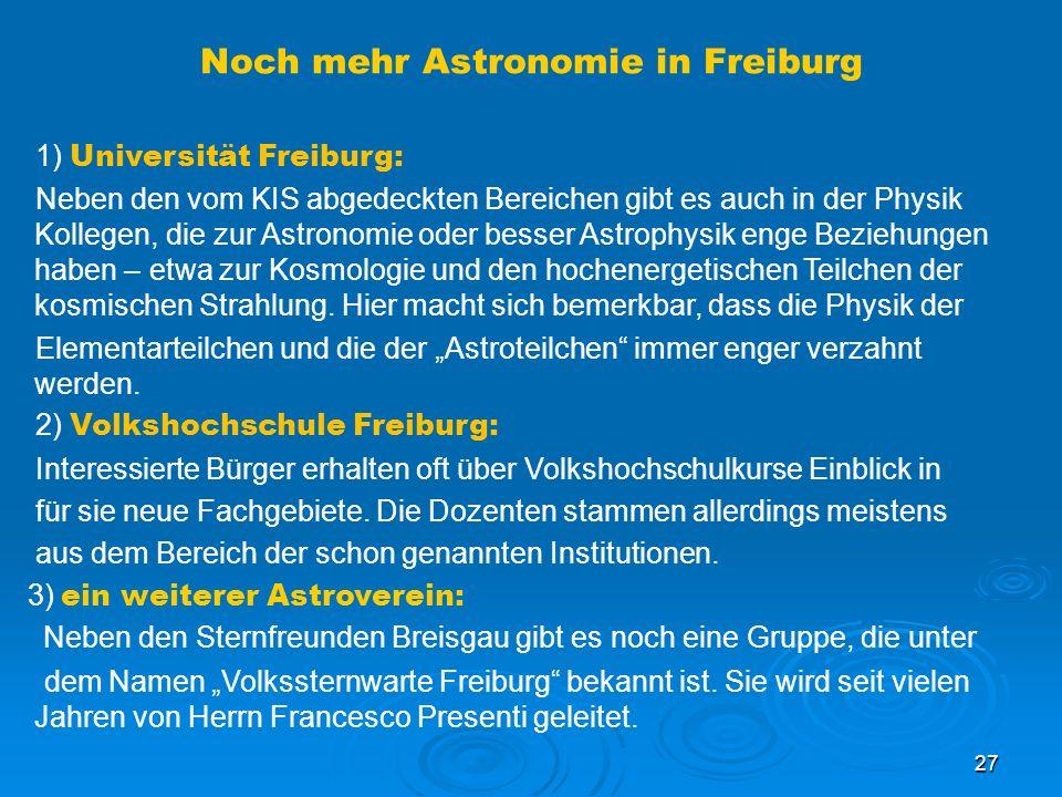 Noch mehr Astronomie in Freiburg