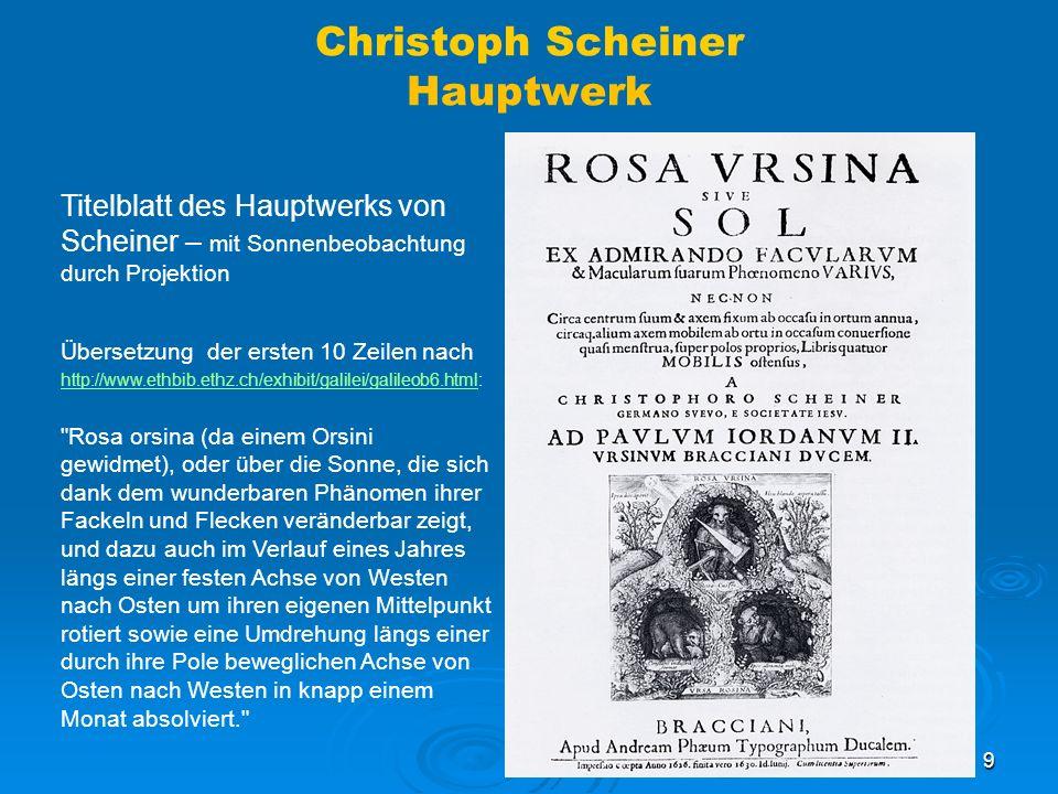 Christoph Scheiner Hauptwerk