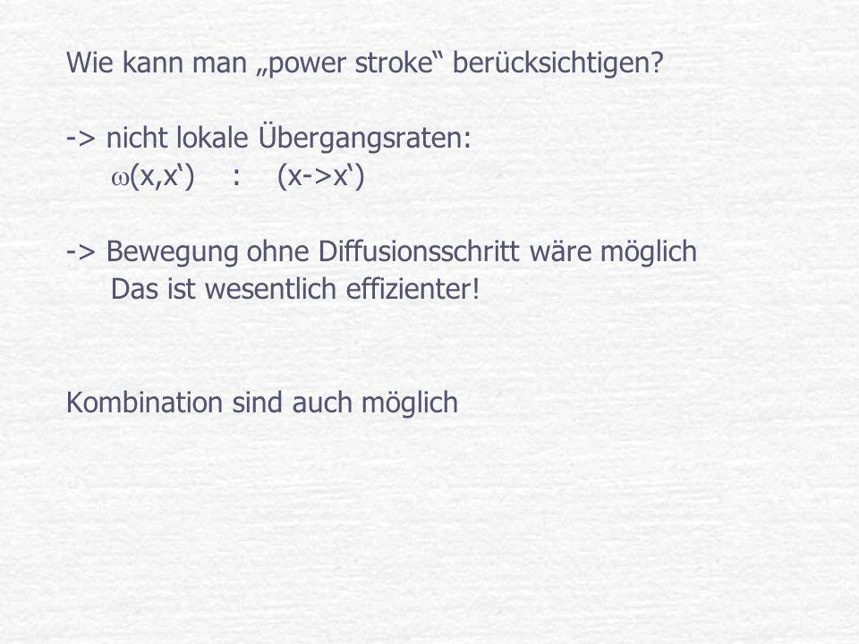 "Wie kann man ""power stroke berücksichtigen"