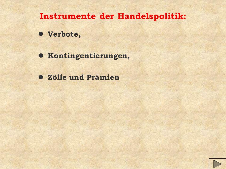 Instrumente der Handelspolitik: