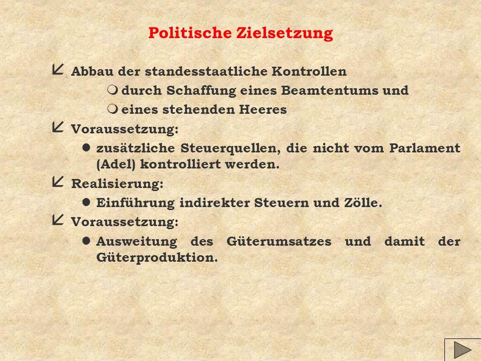 Politische Zielsetzung