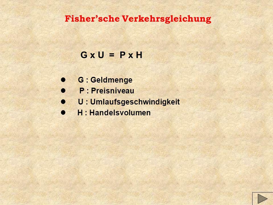 Fisher'sche Verkehrsgleichung