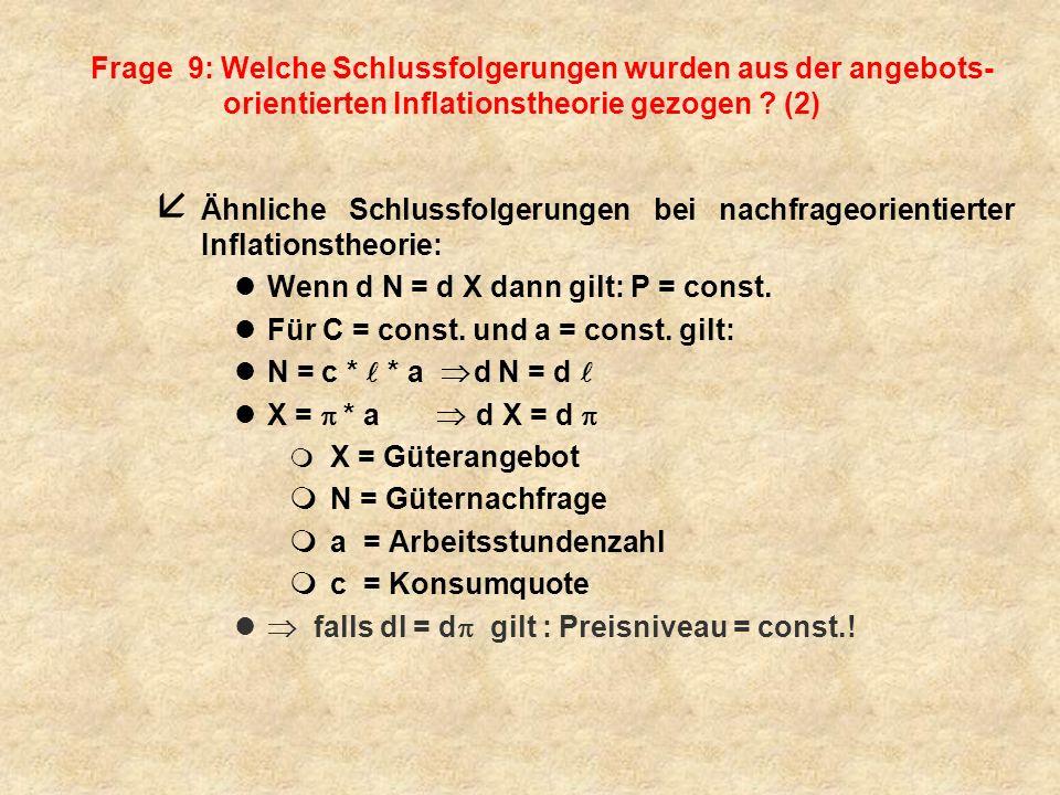 Wenn d N = d X dann gilt: P = const.