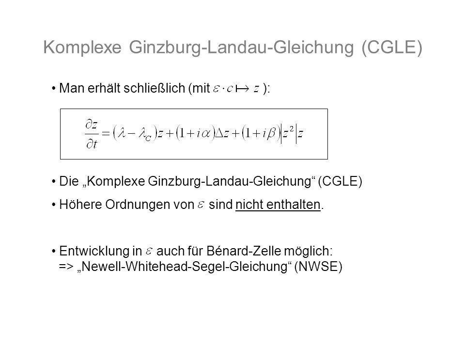 Komplexe Ginzburg-Landau-Gleichung (CGLE)