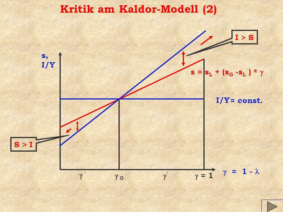 Kritik am Kaldor-Modell (2)