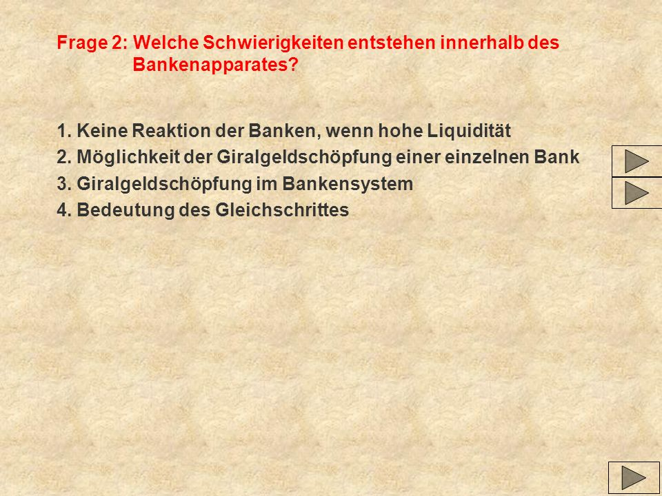 Frage 2: Welche Schwierigkeiten entstehen innerhalb des Bankenapparates