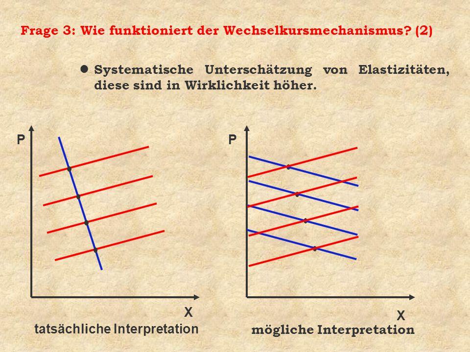 Frage 3: Wie funktioniert der Wechselkursmechanismus (2)