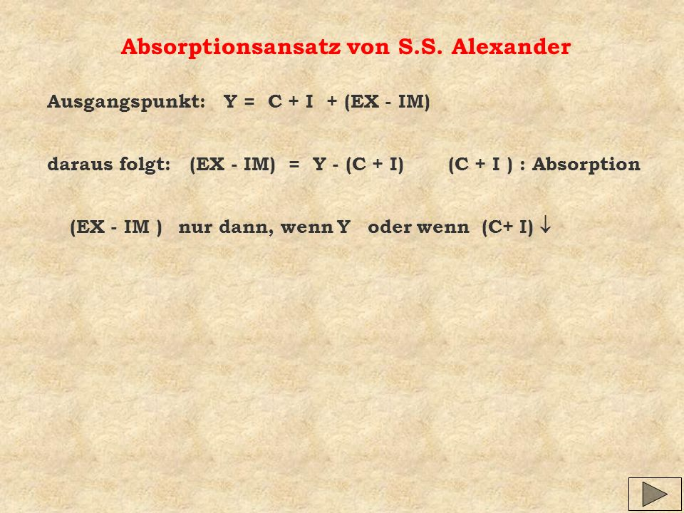 Absorptionsansatz von S.S. Alexander
