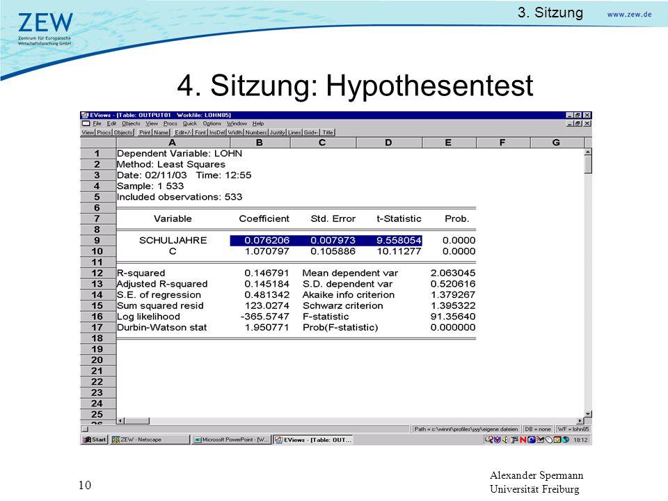 4. Sitzung: Hypothesentest