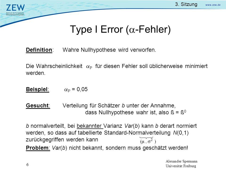 Type I Error (-Fehler)