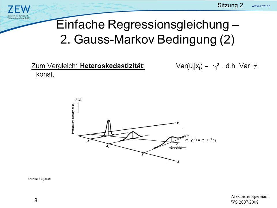 Einfache Regressionsgleichung – 2. Gauss-Markov Bedingung (2)