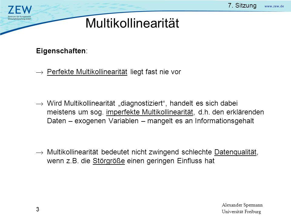 Multikollinearität Eigenschaften: