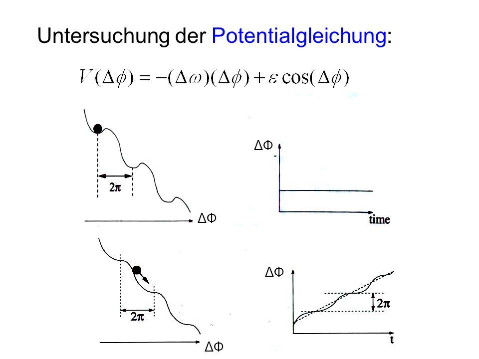 Untersuchung der Potentialgleichung: