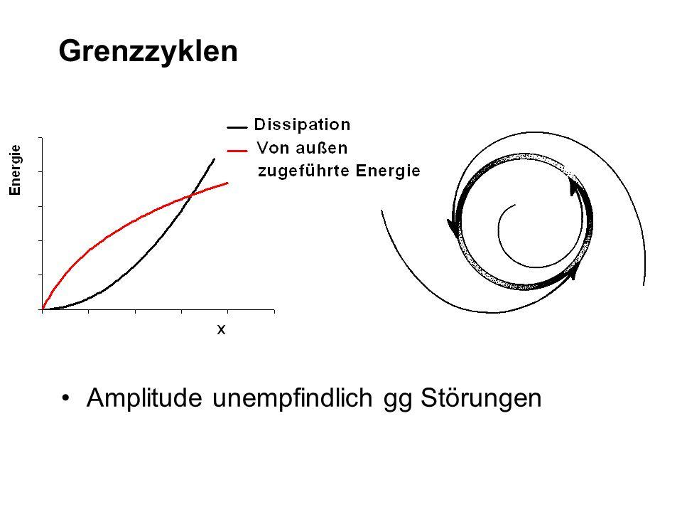 Grenzzyklen Amplitude unempfindlich gg Störungen