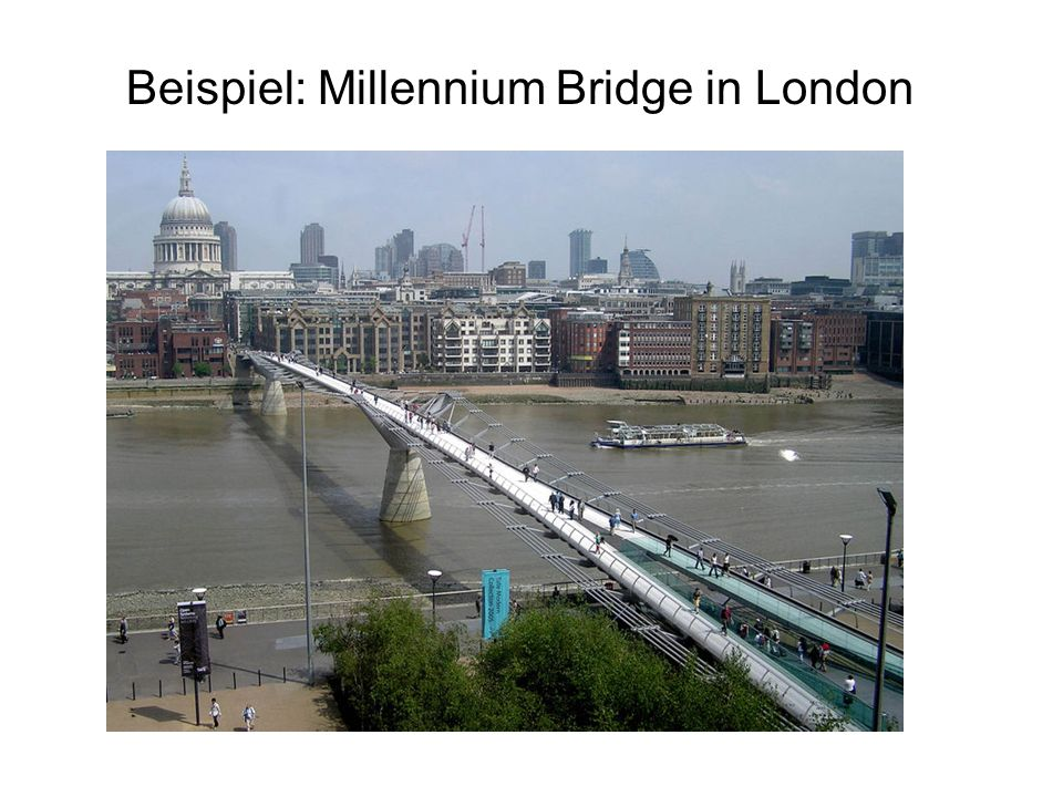 Beispiel: Millennium Bridge in London