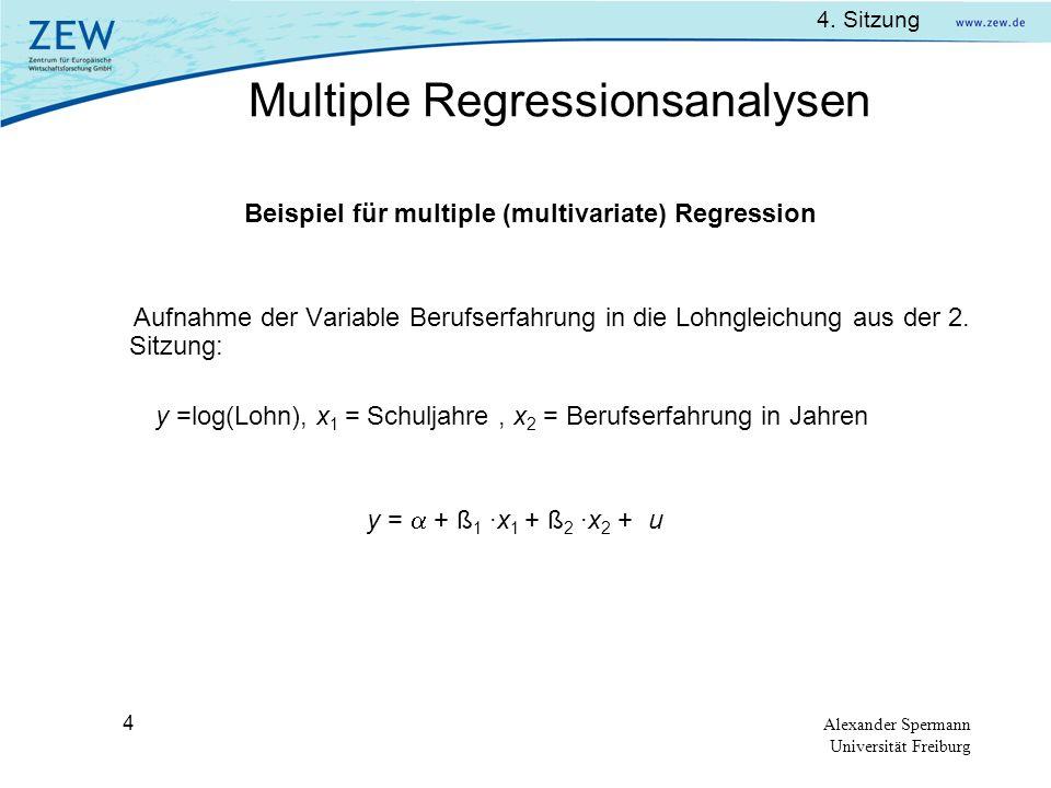 Beispiel für multiple (multivariate) Regression
