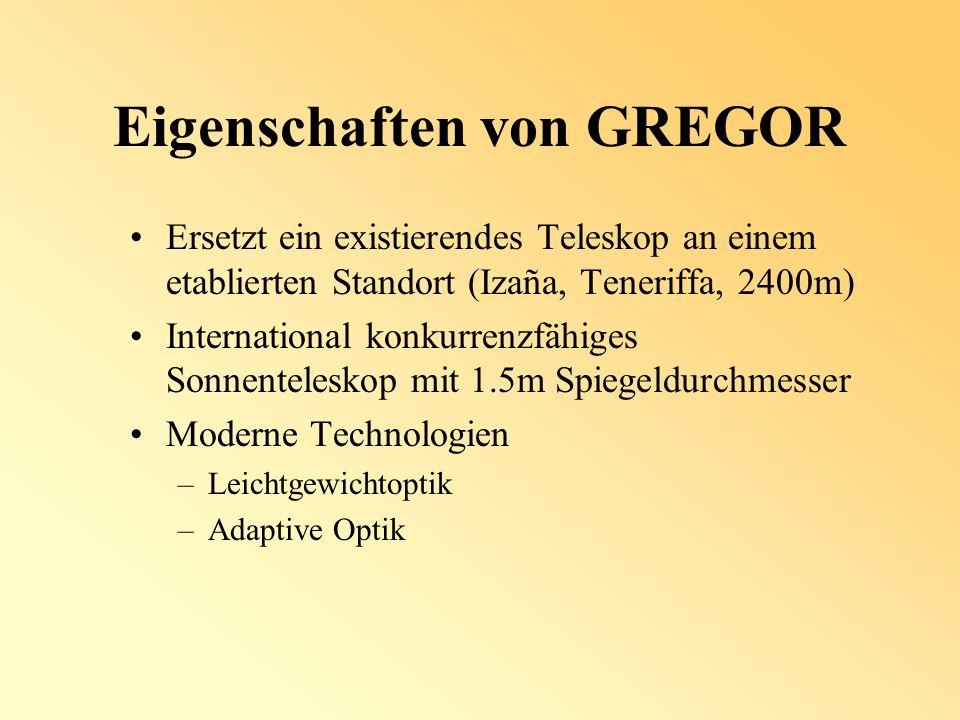 Eigenschaften von GREGOR