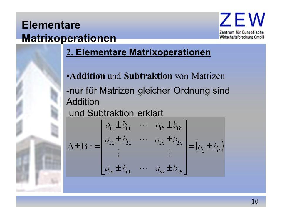 Elementare Matrixoperationen